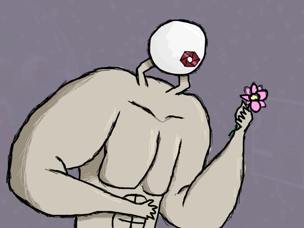 Cyclops with Flower - September of Draws Day 24 by ThermalTheorist