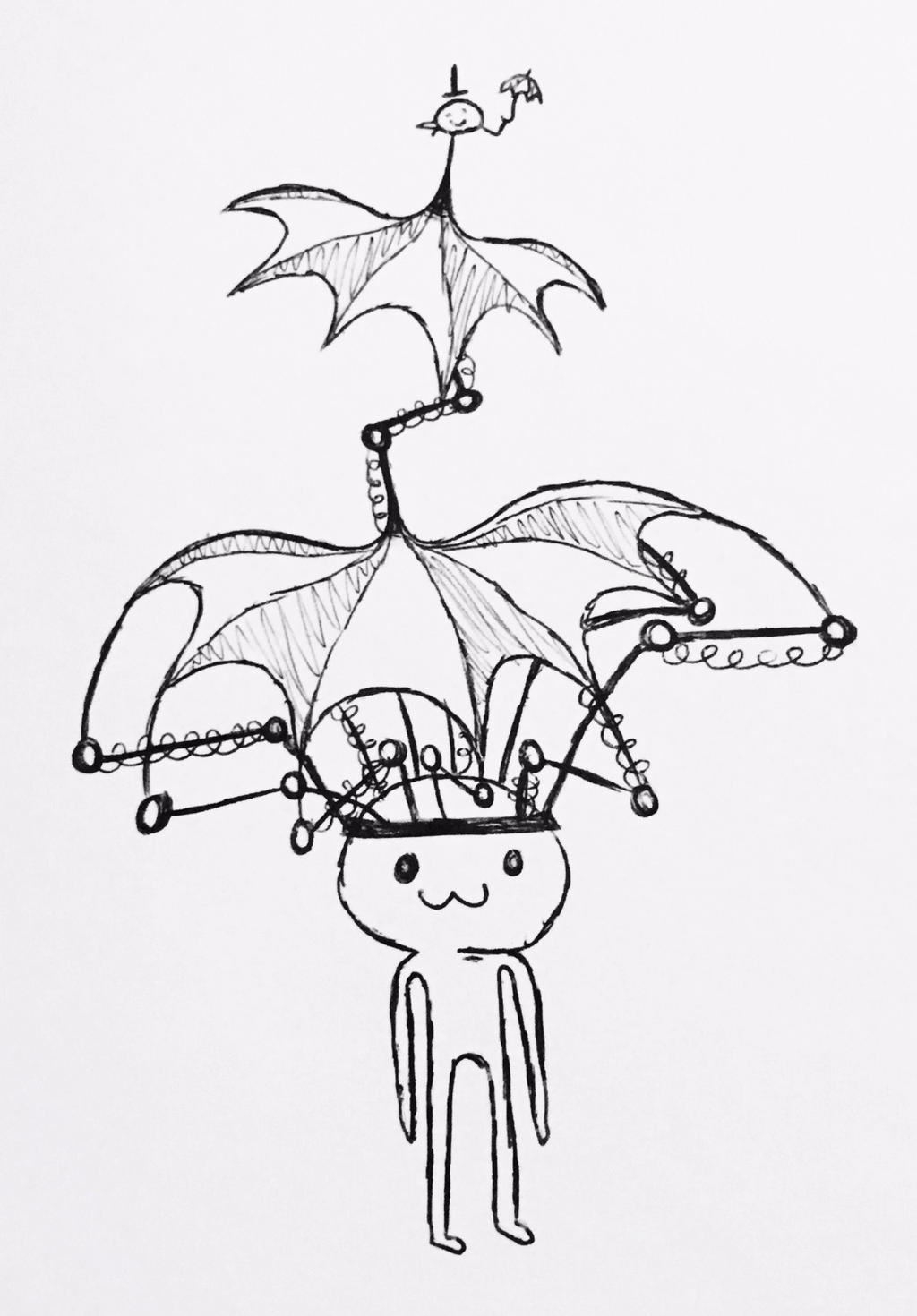 Umbrella Hat 2.0 - September of Draws Day 26 by ThermalTheorist