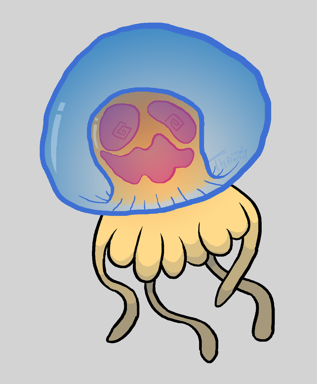 Jellyfish-ish - September of Draws Day 30 by ThermalTheorist