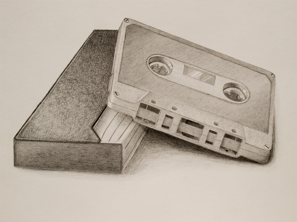 Cassette Drawing by mojomagmajo