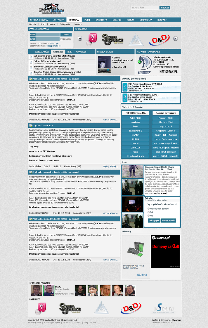 WB-GAMING - Game layout by sheppard100