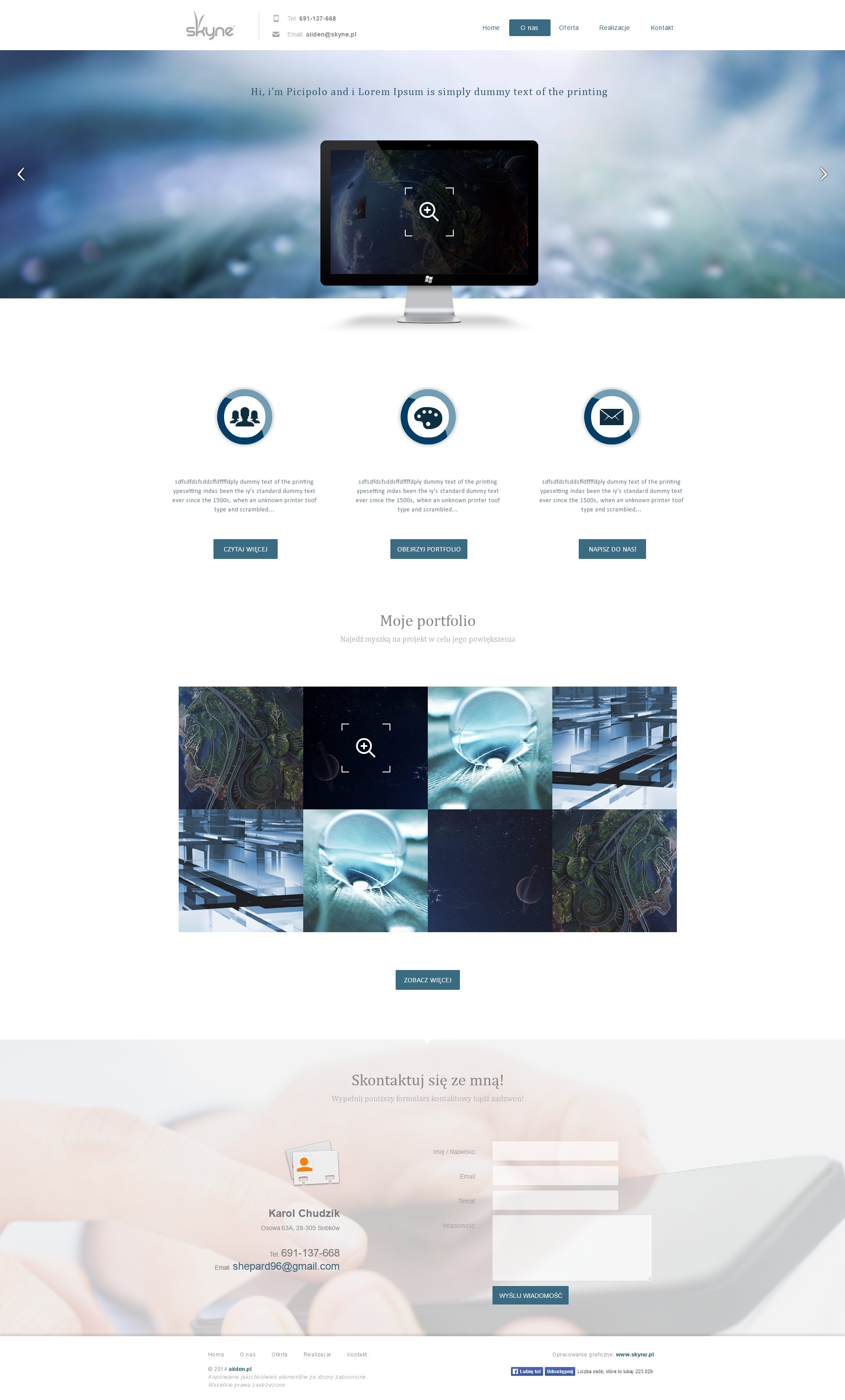 Skyne - Aiiden portfolio project by sheppard100