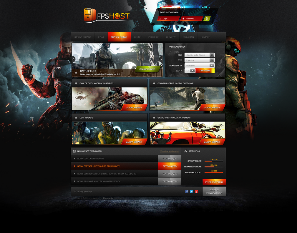 FPSHOST - Game hosting layout by enyks.pl by sheppard100