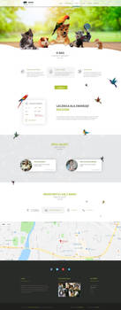 Agamavet responsive one page flat design by enyks