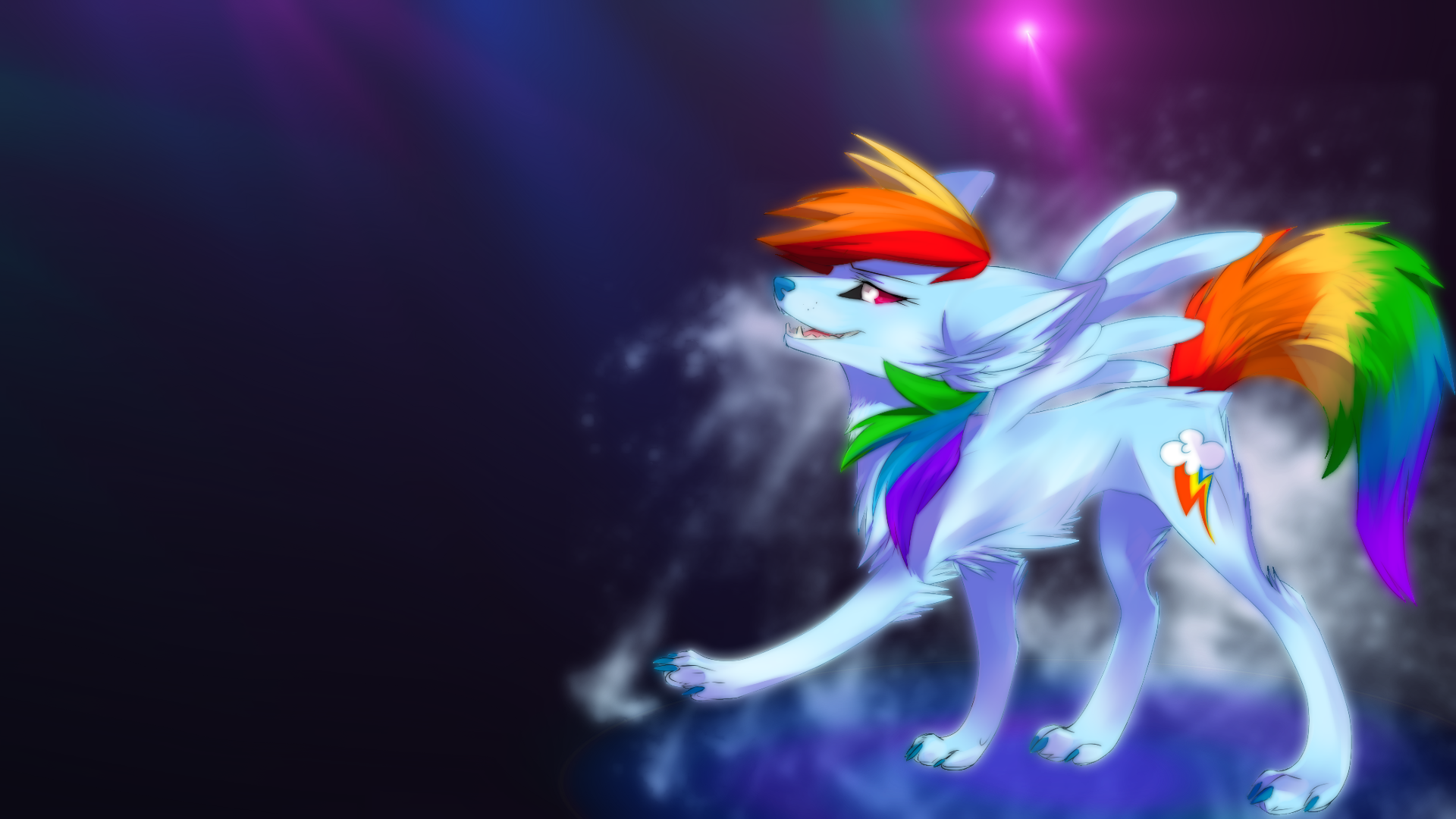 rainbow wolf wallpaper - photo #3