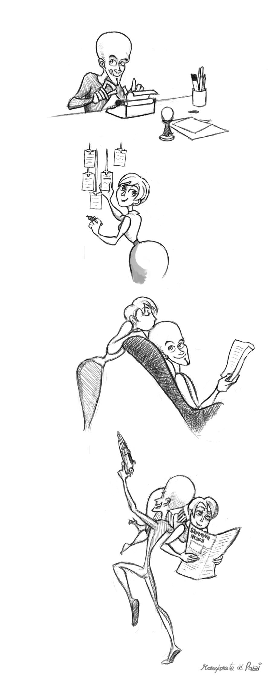 Megamind sketches..again by WongHyo