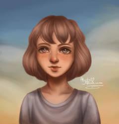 Sketch Portrait #4 by AlydaBookworm