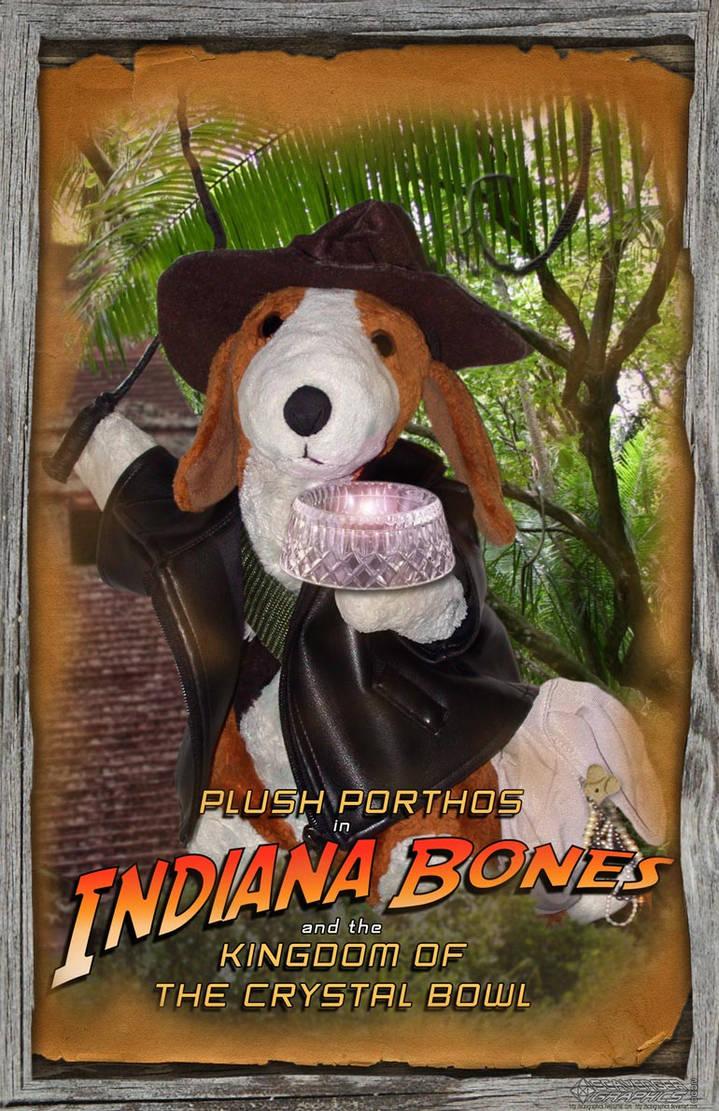 Plush Porthos as Indiana Bones