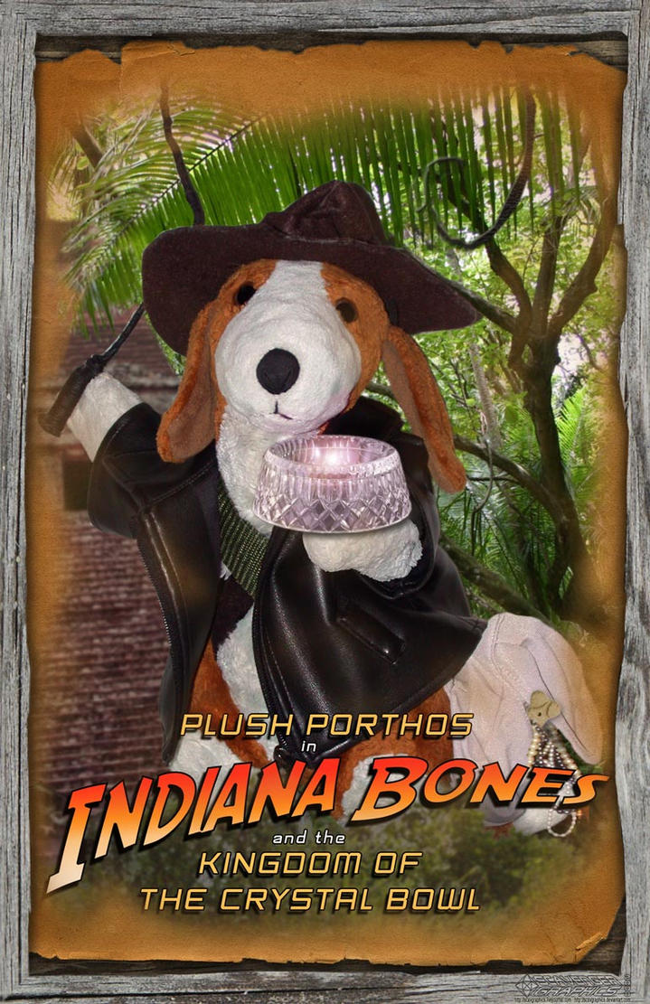 Plush Porthos as Indiana Bones by Scavgraphics