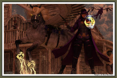 Twighlight in the Weird Weird West by Scavgraphics
