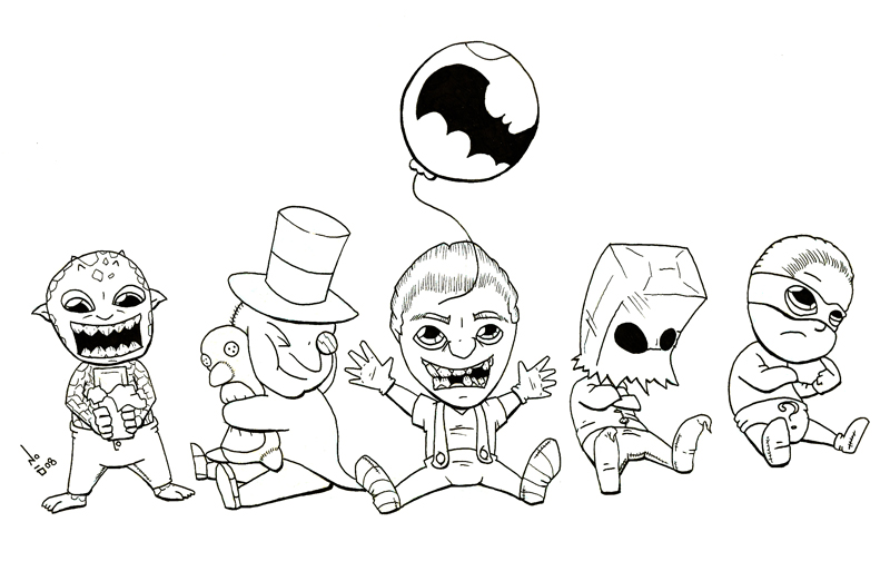 Arkham Babies by ImNO