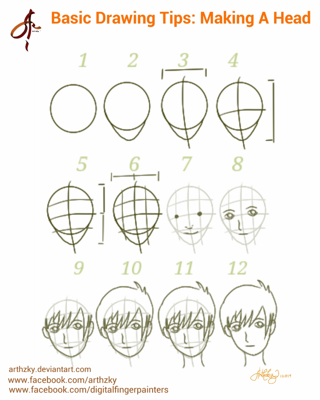 basic drawing tips making a head by arthzky on deviantart