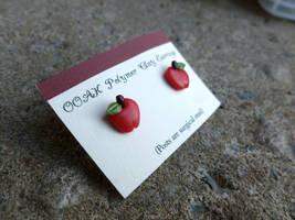 Apple Earrings by Blitzava