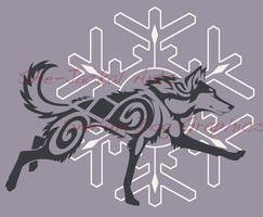 Snowflake Husky Shirt Design (now available) by Blitzava