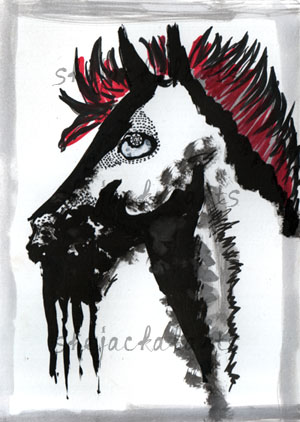 Watch Me Doodle (With Video)-Altered Horse by Blitzava