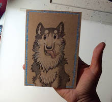 Toony Pet Portrait-Husky by Blitzava