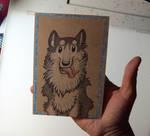 Toony Pet Portrait-Husky