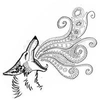 Doodle-Coyote Breath by Blitzava