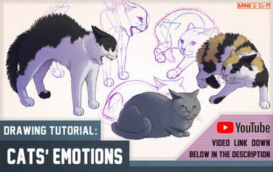 Cats' Emotions - Mink's Tutorials (YouTube) by Minks-Art