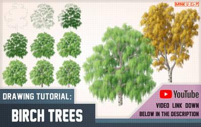 Birch Trees - Mink's Tutorials by Minks-Art