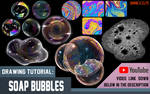 Soap Bubbles and Foam (Mink's Tutorials) by Minks-Art