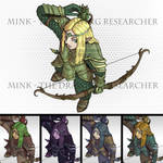 Elf Ranger / Hunter / Archer - Tabletop Token