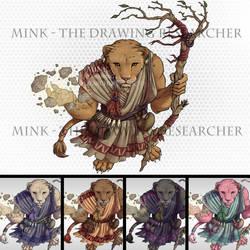 Female Leonin Druid - Tabletop Token