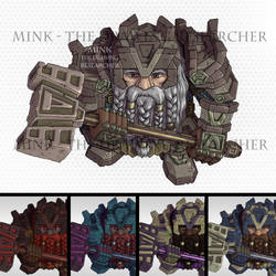 Dwarf Fighter / Warrior / Paladin - Tabletop Token