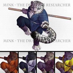 Snow Leopard Tabaxi Monk - Tabletop Token