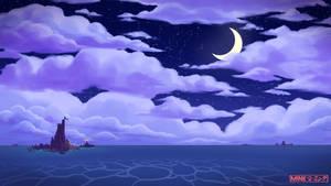 Drifting into the moonlight - Speedpaint
