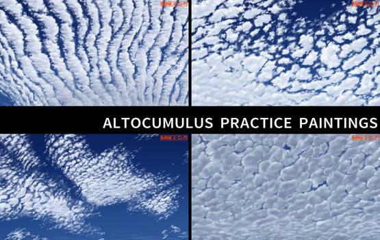 Altocumulus Practice Paintings