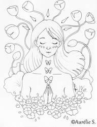 Full Bloom - May 2018 - Aurelie S LineArt by Aurelie-S