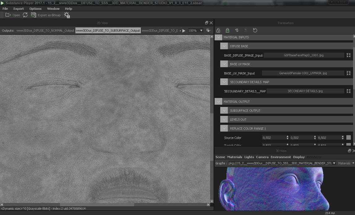3DD.us Ultimate Skin Shader Texture Extractor by SOULSSHINE