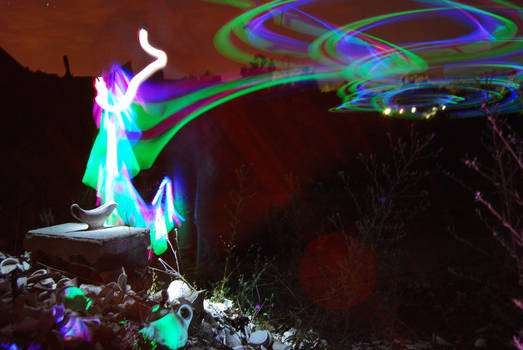 Genie Light Painting Abandoned China Factory