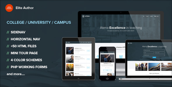ATENA - College, University and Campus template by Ansonika