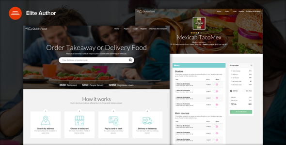 QuickFood - Delivery or Takeaway Food Template by Ansonika