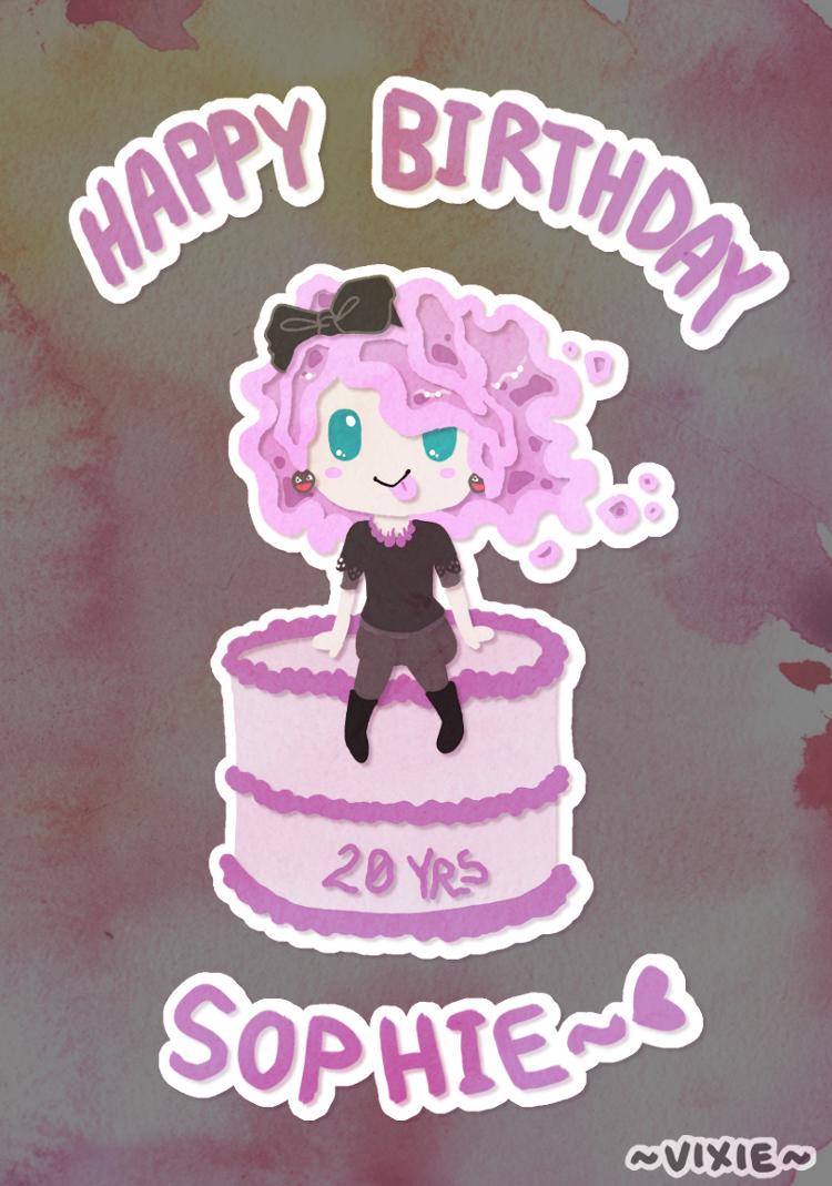 Happy 20TH Birthday Sock by Vixie-Bee
