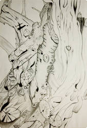 Drawing of A Log by Chad910108