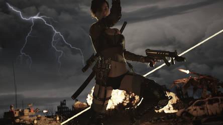 Jen on fire