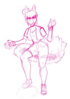 Riko the tough catgirl