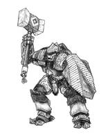 Guard, Warforged Juggernaut by butterfrog