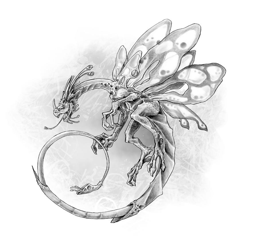 Dragon, Faerie by butterfrog