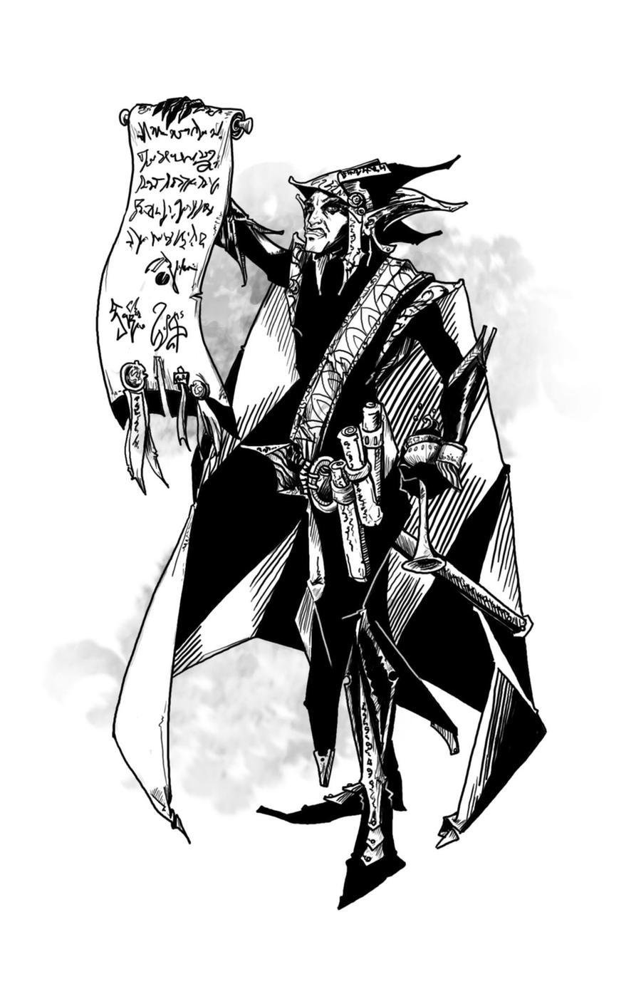 Shadow Fey Ambassador by butterfrog