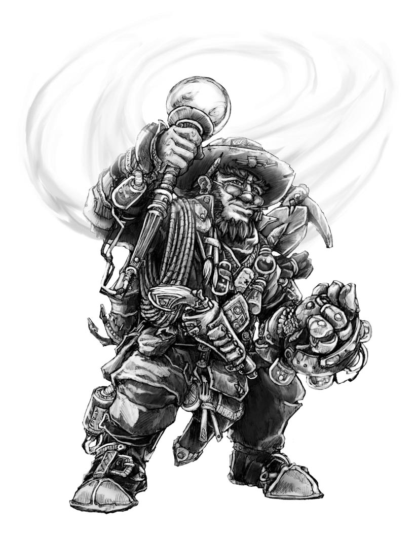 Dwarf Explorer-Artificer by butterfrog