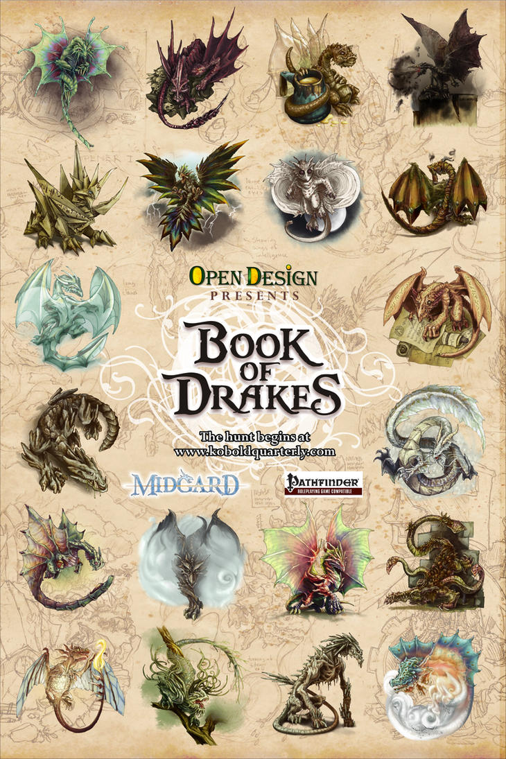 Book of Drakes Poster by butterfrog