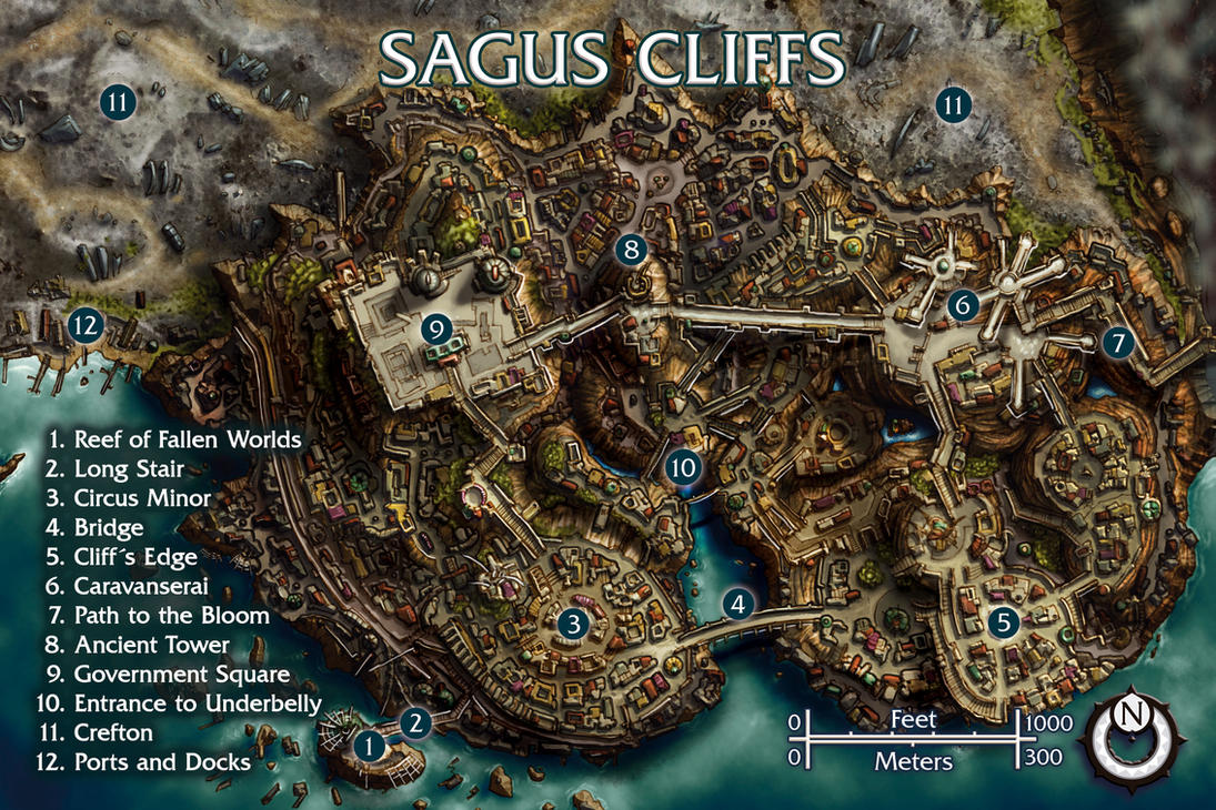 Sagus Cliffs by butterfrog