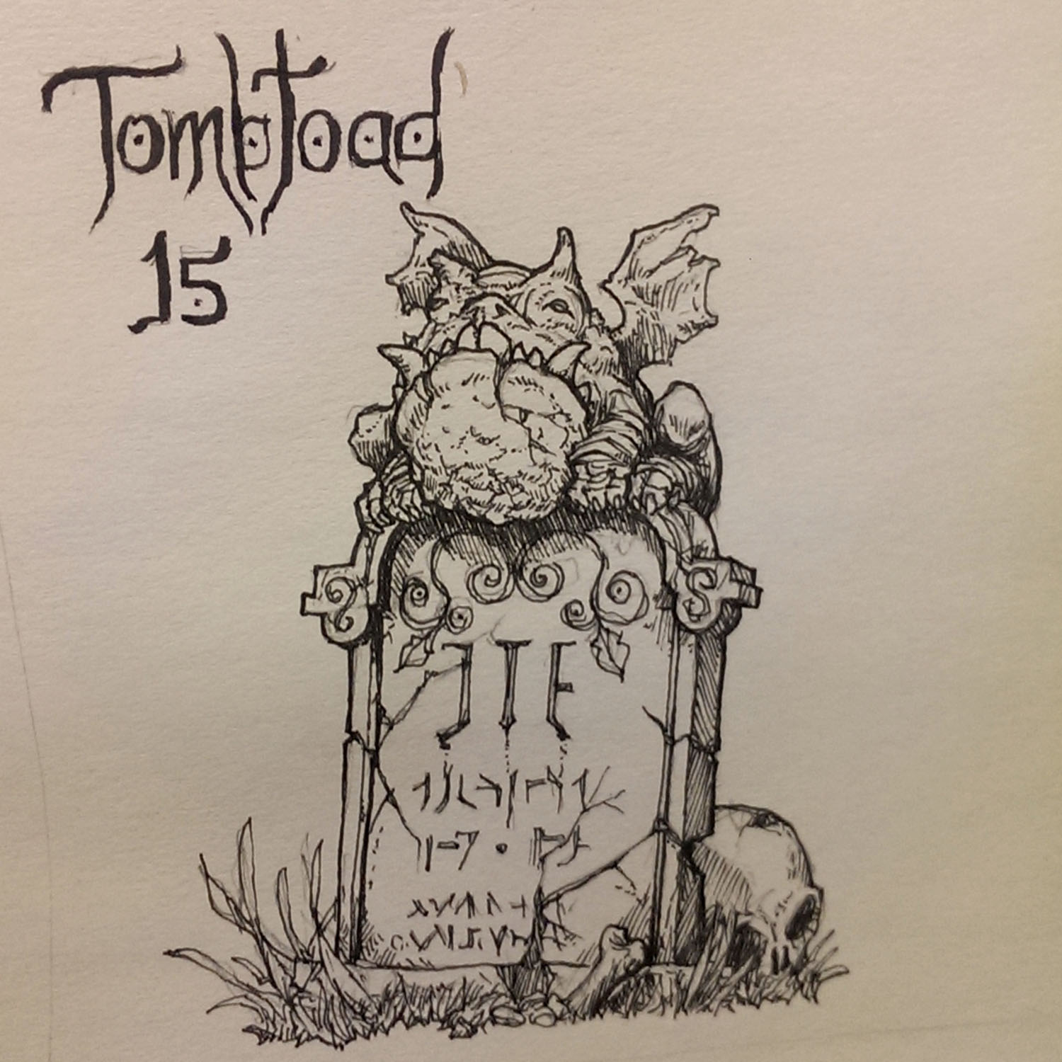 Inktober 15 Tombtoad by butterfrog