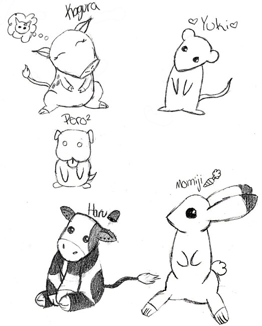 Cute Anime animals 1 by XxSimplyXLovelessxX