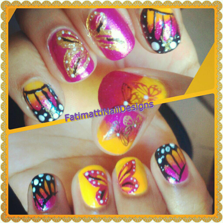 Butterfly Nails by FatimattiDesigns