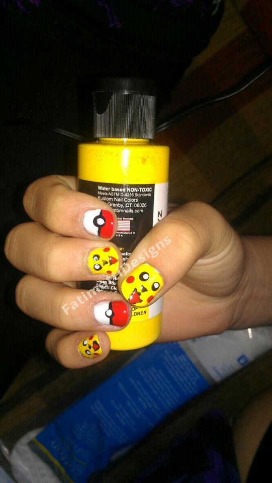 Pikachu Nails! by FatimattiDesigns